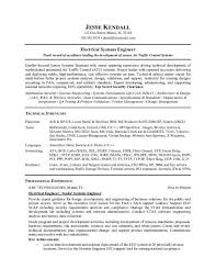Product Engineer Resume Systems Engineering Manager Cover Letter