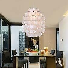 Chandelier For Living Room Lightinthebox Modern White Shell Pendant Chandelier Mini Style