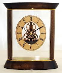 Schreibtisch Design Klein Tischuhr Kaminuhr Atmos Goldbraun Standuhr Uhr Schreibtisch