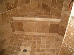 gorgeous shower floor tile in beige color for simple shower area