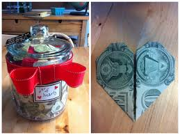 wedding gift of money a recent wedding gift a jar of money folded into origami
