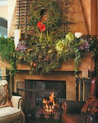 christmas decorating fireplace without mantle home design ideas