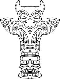 totem pole coloring pages u2013 barriee