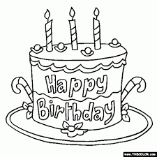 awesome and also interesting happy birthday coloring pages to