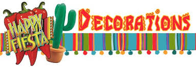 mexican decorations including posters banners flags bunting