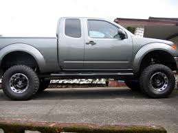 red nissan frontier lifted prg products