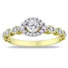 circle engagement ring antique affordable engagement ring 0 50 carat princess cut