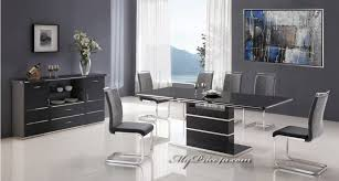 Contemporary White Dining Room Sets - dining room stylish dining sets with rectangular white table