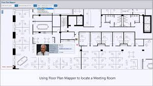 locating employees and meeting rooms on interactive office floor