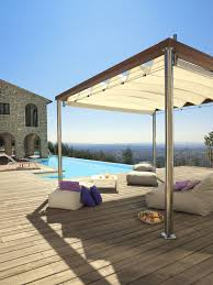 Pergola With Fabric by Self Supporting Pergola Wooden Stainless Steel Fabric