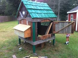chicken coop from a playhouse backyard chickens