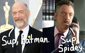 Major League Movie Meme - j k simmons leaves spider man behind for major role in justice