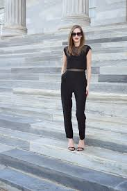 express black jumpsuit casually styled the chic jumpsuit