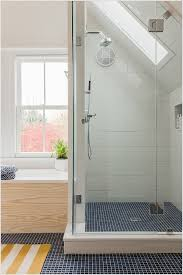 Small Attic Bathroom Sloped Ceiling by Rectangle Tile Shower Designs Rectangular Tile Shower Curb
