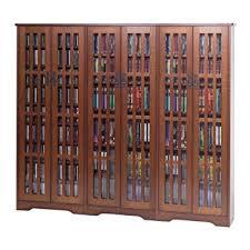 Media Cabinet Glass Doors Leslie Dame M 1431w Wide Mission Media Cabinet
