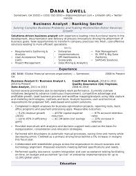 exle of business analyst resume business analyst resume sle