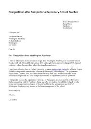 sample letter of resignation teacher uk cover letter templates