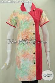 desain baju batik halus baju batik cap smoke kwalitas halus model dress kombinasi warna