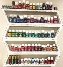 wood shelf essential oils shelf nail polish rack boho