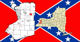 Confederate Flag And Union Flag The Last Of The Confederate Rebels Town Line Ny