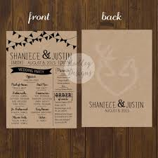 wedding programs rustic hadley designs programs