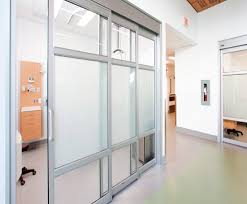 Glass Room Divider Doors Patient Privacy Switchable Glass Technology Electronic Glass