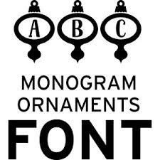 silhouette design store view design 208046 monogram ornaments font