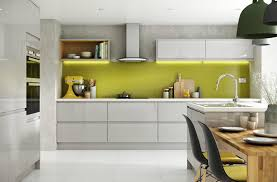 White Gloss Kitchen Cabinets by Gloss Kitchen Units U Shape Kitchen Cabinet White Yellow Cabinet