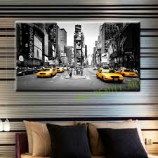 Wohnzimmer Deko Strass 2017 Leinwand Malerei New York Taxi Straße Moderne Wandbilder Für