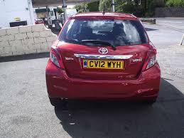 2012 12 toyota yaris 1 33 vvt i tr 5 door one local owner very