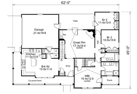 Slab Foundation Floor Plans Farmhouse Style House Plan 3 Beds 2 00 Baths 1591 Sq Ft Plan 57 345