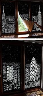 cool home products modern blackout curtains turn windows into penthouse views of a city