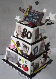 80th birthday cakes behance