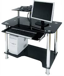 Black Computer Desk Black Computer Desk With Keyboard Tray Review And Photo