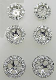 diamond earring jackets earrings