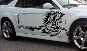 mustang decals flaming side graphics decals fits trailers trucks mustang
