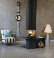 wood burning fireplace contemporary open hearth central piros