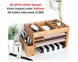 wood desk accessories home office storage desk sets Desk Supplies For Office