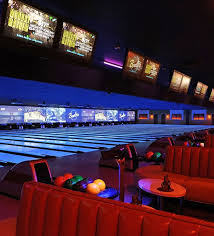 black light bowling near me bowling alley lounge area in mar vista la bowlero