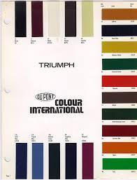 triumph tr4a body paint colours triumph tr4a irs rebuild and