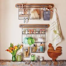 Kitchen Wall Shelves by Modular Kitchen Wall Storage Spice Rack With Cup Hooks World Market