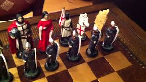 theme chess sets muslim army vs christian army chess set youtube