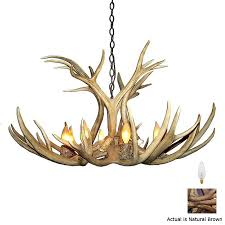 Antler Chandelier Canada Shop Canadian Antler Design Mule Deer 40 In 9 Light Brown