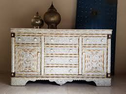 syrian mother of pearl inlay cabinet