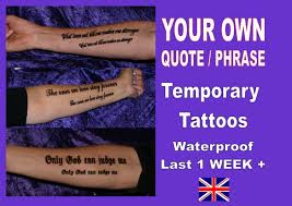 tattoos inner arm forearm personalised your own quote custom made