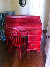 distressed roll top desk sold vintage rolltop desk shabby chic rustic distressed farmhouse red w gold undertones brass patina fl hardware matching chair