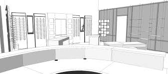 retail space floor plan custom design architectural services for optical stores