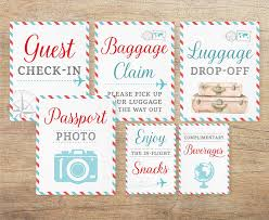 themed signs airplane signs travel wedding airline themed baby shower