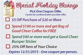 holiday coupon crazy coupon ad good cheer food bank u0026 thrift stores