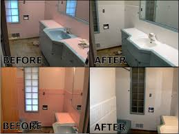 Bathroom Tile Refinishing by Pink Bathroom Tile Before And After Pink Bathroom Tile Refinished